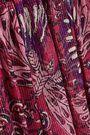 ANNA SUI Lamé-striped printed silk-blend mini dress