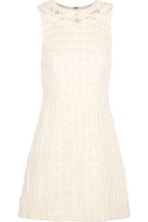 ALICE + OLIVIA Haven embellished cotton-bouclé mini dress