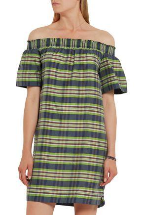 J.CREW Collection Mistflower off-the-shoulder silk mini dress