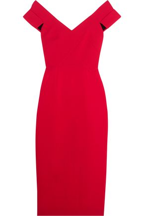 ROLAND MOURET Grendon wool-crepe dress