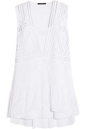 TIBI Layered cotton mini dress