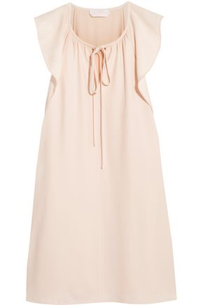 CHLOÉ Bow-detailed cady mini dress