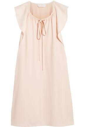 CHLOÉ Flutter-sleeve cady mini dress