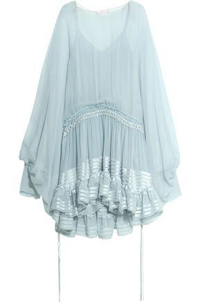 CHLOÉ Ruffled silk-mousseline dress