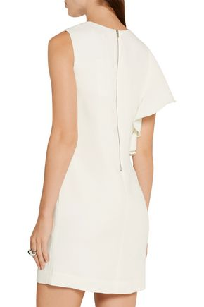 ELIZABETH AND JAMES Luca ruffle-trimmed crepe mini dress