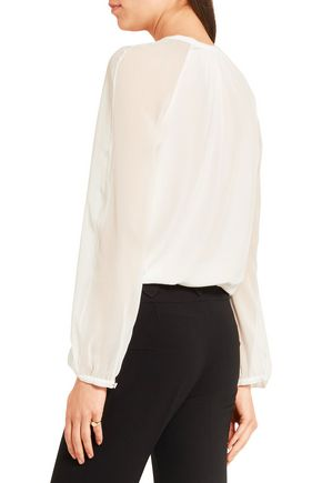 ALTUZARRA Benny cutout silk and georgette blouse