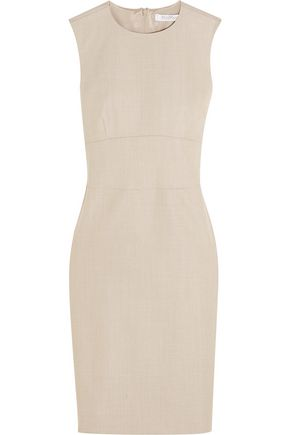 MAX MARA Gang stretch wool and silk-blend dress