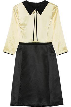 MARC JACOBS Two-tone silk-satin dress
