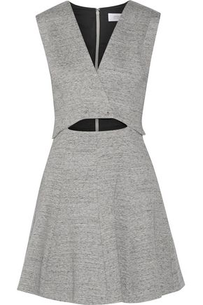 DEREK LAM 10 CROSBY Cutout cotton-blend mini dress