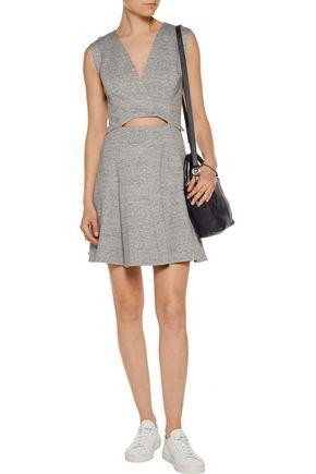 DEREK LAM 10 CROSBY Cutout cotton-blend mini dress