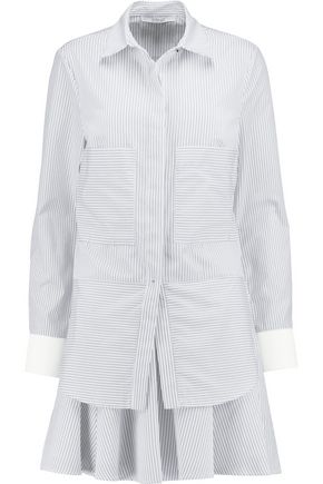 10 CROSBY DEREK LAM Striped cotton-blend mini dress