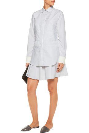 DEREK LAM 10 CROSBY Striped cotton-blend mini dress