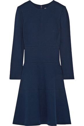 LELA ROSE Wool-blend crepe dress