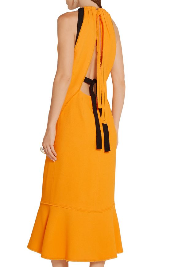 Fluted crepe midi dress | PROENZA SCHOULER | Sale up to 70% off | THE OUTNET