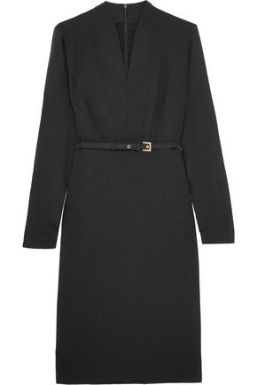 MAX MARA Tivoli stretch-wool crepe and silk crepe de chine dress