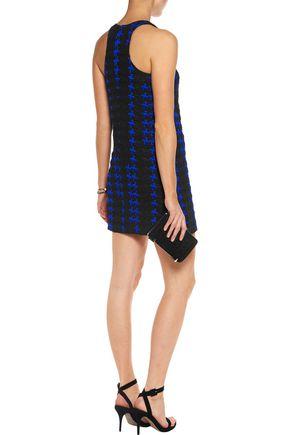 MILLY Cotton-blend cloqué mini dress