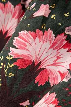 ERDEM Alouette floral-print silk-gazar gown