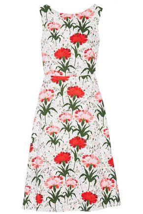 ERDEM Maia floral-print cotton-blend piqué dress