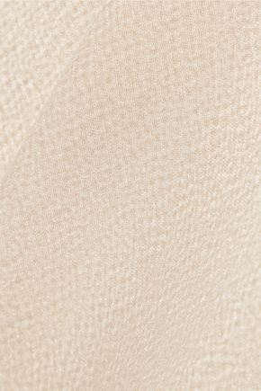 MAIYET Georgette-trimmed hammered silk-satin top