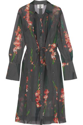 TOPSHOP UNIQUE Selwyn floral-print silk-georgette shirt dress
