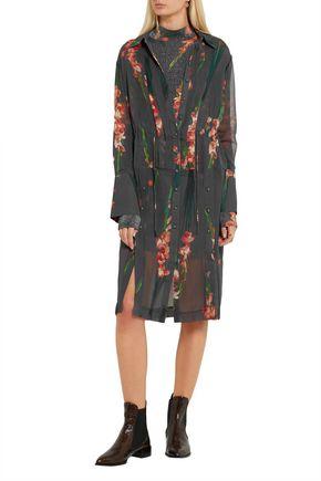 TOPSHOP UNIQUE Selwyn floral-print silk-georgette shirt dress