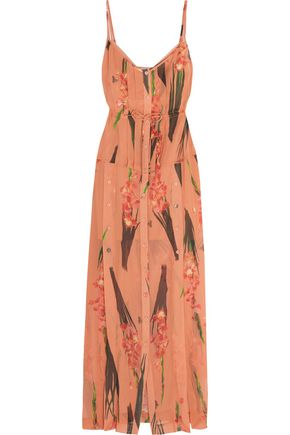 TOPSHOP UNIQUE Selwyn floral-print silk-georgette maxi dress