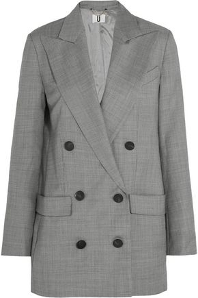 TOPSHOP UNIQUE Wycliffe double-breasted wool-twill blazer