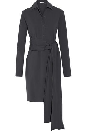 TOMAS MAIER Belted stretch-cotton poplin shirt dress
