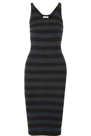 TOMAS MAIER Striped jersey dress