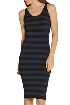 TOMAS MAIER Striped jersey dress
