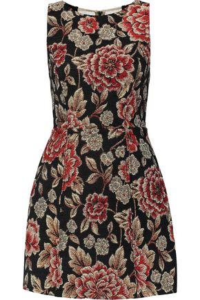 ALICE+OLIVIA Darla mesh-paneled brocade mini dress