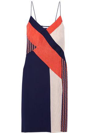 DIANE VON FURSTENBERG Frederica paneled printed stretch-silk dress