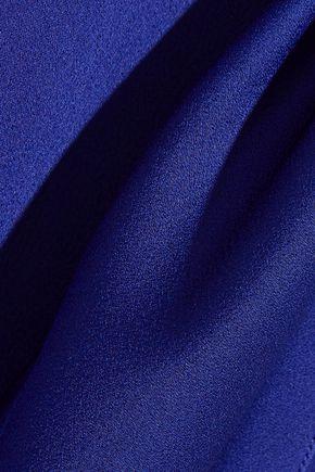 VICTORIA BECKHAM Cutout brushed-satin gown