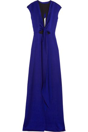 VICTORIA BECKHAM Cutout brushed-satin gown