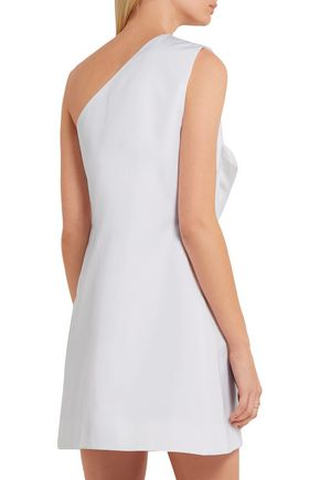 VICTORIA, VICTORIA BECKHAM Asymmetric bow-embellished satin mini dress
