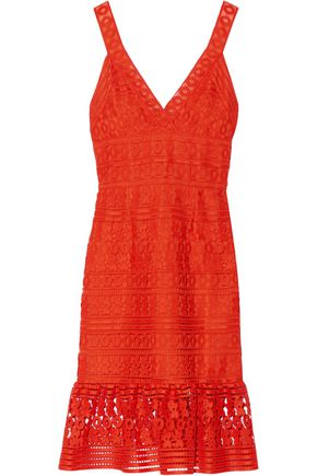 DIANE VON FURSTENBERG Tiana fluted guipure lace dress