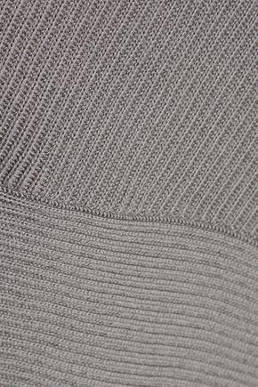 VICTOR ALFARO Asymmetric ribbed merino wool dress