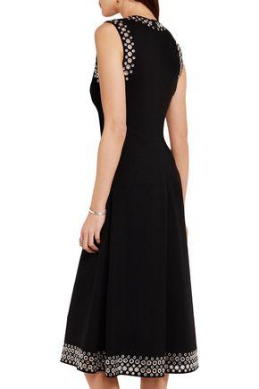ALEXANDER WANG Eyelet-embellished crepe midi dress