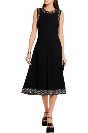 ALEXANDER WANG Eyelet-embellished crepe midi dress