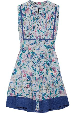 SALONI Tilly printed silk crepe de chine mini dress