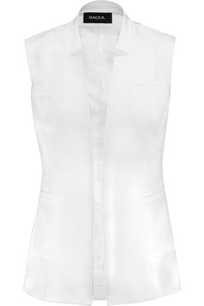 RAOUL Cotton-blend twill vest