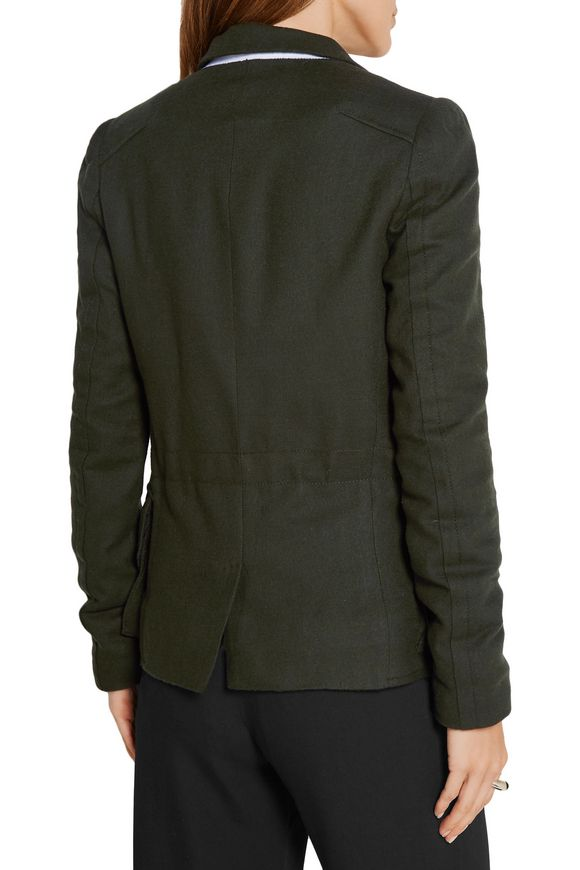 Felt-trimmed wool jacket | HAIDER ACKERMANN | Sale up to 70% off | THE  OUTNET
