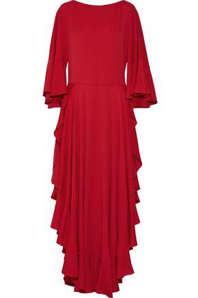 LANVIN Ruffled crepe de chine gown