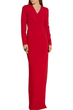 LANVIN Gathered stretch-crepe gown