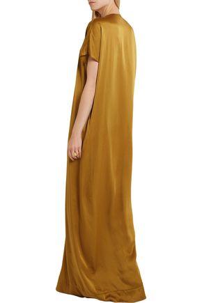 LANVIN Washed-satin maxi dress