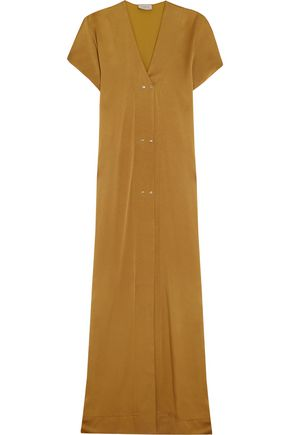 LANVIN Washed-satin maxi dress