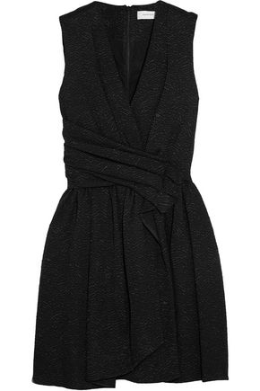 CARVEN Wrap-effect matelassé mini dress