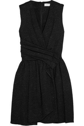 CARVEN Wrap-effect matelassé mini dress