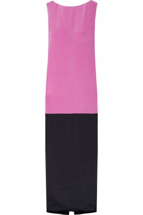 ROKSANDA Two-tone silk-blend crepe de chine gown