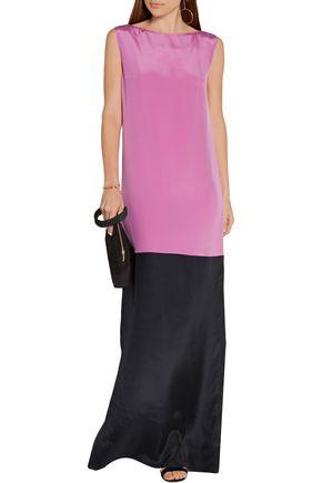 ROKSANDA Two-tone silk-blend crepe de chine gown